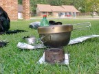 Tuna stove without wind screen